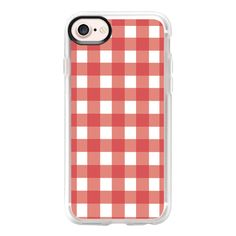 Summer Picnic Gingham (Red) - iPhone 7 Case And Cover (155 RON) ❤ liked on Polyvore featuring accessories, tech accessories, iphone case, clear iphone case, apple iphone case, iphone cases, iphone cover case and red iphone case