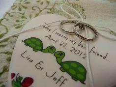 CUSTOM Porcelain Heart Ring Holder  Today I by aphroditescanvas, $28.00