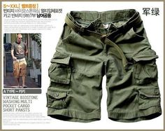 New fashion Summer Men's casual cargo combat short Mens leisure cotton shorts Camouflage