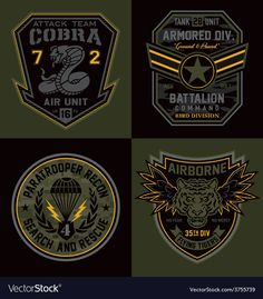 Special unit military patch emblems - Buy this stock vector and explore similar vectors at Adobe Stock