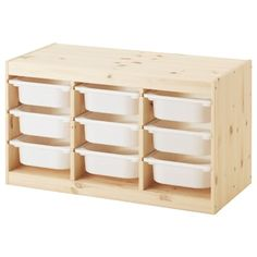 TROFAST Storage combination with boxes - light white stained pine/white - IKEA Idea: Lego Storage and glue on lego sheets on top and side for building. Ikea Trofast Storage, Ikea Storage Boxes, Childrens Storage Furniture, Nursery Furniture, Geek Furniture, Diy Kids Furniture, Furniture Online