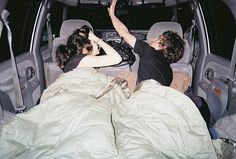 have a sleep over in a vehicle! haha