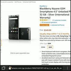 "@blackberryclubs: @BlackBerry Keyone GSM Smartphone 4.5"" Unlocked Phone - 32 GB - Silver (International Warranty) http://amzn.to/2qEZUzV  @BlackBerry @BlackBerryMobile @BlackBerryClubs ...... #BlackBerryClubs #BlackBerryPhotos #BBer ....... #OldBlackBerry #NewBlackBerry ....... #BlackBerryMobile #BBMobile #BBMobileUS #BBMobileCA ....... #RIM #QWERTY #Keyboard .......  70% Off More BlackBerry: "" http://ift.tt/2otBzeO ""  .......  #Hashtag "" #BlackBerryClubs "" ......."