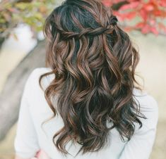 Waterfall braid hair tutorial.  Back to school hairstyles and more cool hair ideas.