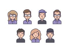 Team Avatars by Vic Bell for Brotherhood