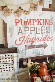 Antique Fall sign