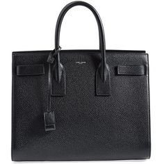 Women's Saint Laurent 'Large Sac de Jour' Grained Leather Tote ($3,330) ❤ liked on Polyvore featuring bags, handbags, tote bags, purses, totes, handbags tote bags, tote bag purse, handbags purses, yves saint-laurent tote and shopping tote