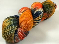 "Hand Dyed Sock Yarn, Superwash Wool & Nylon ""Tie-Dye"""