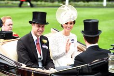 William and Kate arrived in a carriage procession for their first visit to Royal Ascot with Wentworth Beaumont, the fourth Viscount Allendale, where the Prince will present a trophy for a race named in his honour, The Duke of Cambridge Stakes