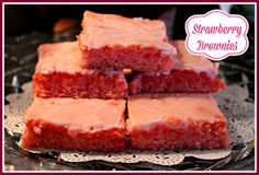 Sweet Tea and Cornbread: Strawberry Brownies!
