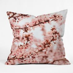 Lisa Argyropoulos Blissfully Pink Outdoor Throw Pillow | DENY Designs Home Accessories