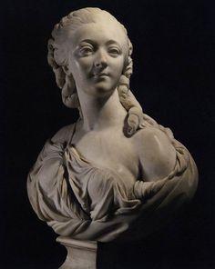 Augustin Pajou, Bust of Madame du Barry 1773 Marble, height 60 cm Musée du Louvre, Paris