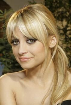 Nicole Richie   fringe and ponytail