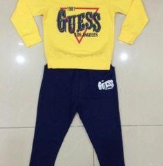 BBT Lisakids in chữ GUESS size đại từ 9 đến 13 ri 5 bộ (màu vàng)