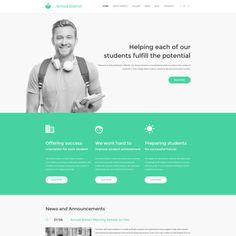 Education Bootstrap Moto CMS 3 Template