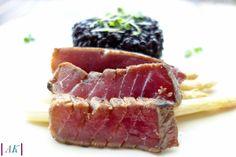 Seared Ahi Tuna with Black Rice - Almost Kosher