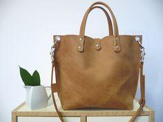 Lederhandtasche *Lou* - kleiner Shopper camel!*