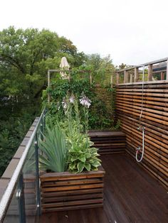 Backyard Planters, Patio, Timber Planks, Clinic Design, Pallet Painting, Pergola Shade, Different Textures, Garden Inspiration, Rooftop