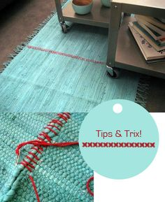 Make A Large Rug From Smaller Rugs By Stitching Them Together With  Complimenting Or Contrasting Color Thread.