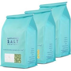 Dead Sea Mineral Bath Salt Variety 3 Pack: Pure Dead Sea Salt, Lavender Dead Sea Salt and Eucalyptus Dead Sea Salt (1.75lb bag of each) by San Francisco Bath Salt Company. $39.99. Therapeutic, mineral rich bath salts - (see below for each salt's unique features/benefits). Our Dead Sea Salts are 100% Pure and Certified Authentic. Pack includes a 1.75lb designer bag of each salt. Bags feature a peek-a-boo window and aroma valve allowing you to see AND smell the bath sa...