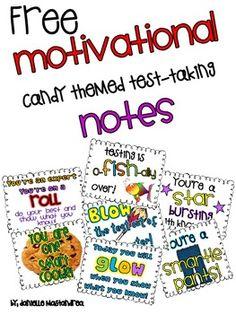Krazee 4 Kindergarten: Motivational Candy Themed Test Taking Notes Math Journal Prompts, Candy Notes, Staar Test, Test Taking Strategies, School Fun, School Stuff, School Ideas, School Gifts, School Projects