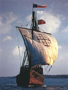 replica of Christopher Columbus tall ship