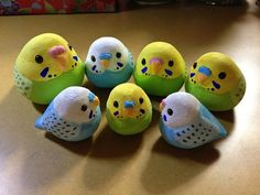 Japanese objects, Parakeets インコ達