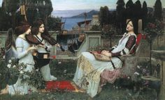 St. Cecilia, John William Waterhouse (The only Waterhouse I've seen in person so far.)