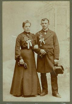 Wedded Bliss Wedding Couple Antique Vintage Cabinet Photo Card 1880s | eBay