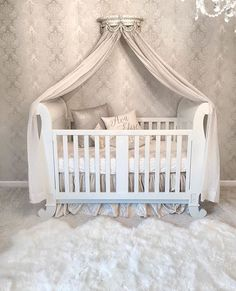 For more nursery's inspirations go to CIRCU.NET and discover more ideas and furniture for luxury baby bedroom Baby Bedroom, Baby Room Decor, Nursery Room, Girl Nursery, Girl Room, Kids Bedroom, Princess Nursery Theme, Child Room, Room Kids