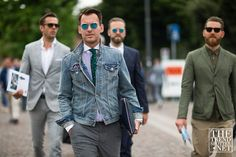 The men of Pitti dished up the street style goods once again this week. See the…