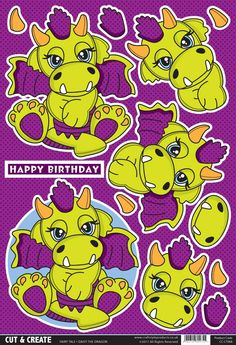 Buzzcraft Fairy Tale Cut & Create - Daisy the Dragon 3d Paper Crafts, Paper Craft Supplies, Diy And Crafts, Christmas Sheets, Decoupage Printables, Cardmaking And Papercraft, 3d Cards, Create And Craft, Decoupage Paper