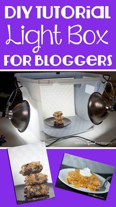 DIY Light Box tutorial for Bloggers photography.