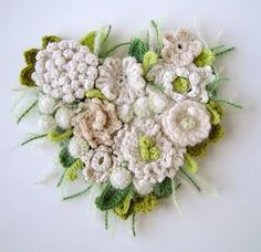Crochet floral wall art