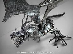 This is one of my favorite metal artists. His work is both inspirational and impossible. Few others can capture these creatures with this much tallent and realistic touches.