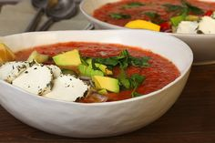 Summer Tomato Soup with Herbed Goat Cheese http://www.cheeserank.com/culture/summer-tomato-soup-herbed-goat-cheese/