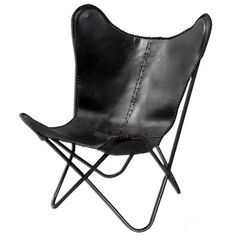Fashion N You by Horizon Interseas Leather Butterfly Lounge Chair