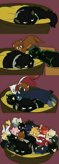 Aizawa Shota and the class My Hero Academia Manga Anime, Fanarts Anime, Anime Meme, My Hero Academia Shouto, Hero Academia Characters, All Out Anime, Niedlicher Panda, Familia Anime, Anime Lindo