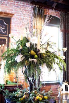 arrangement for winter wedding
