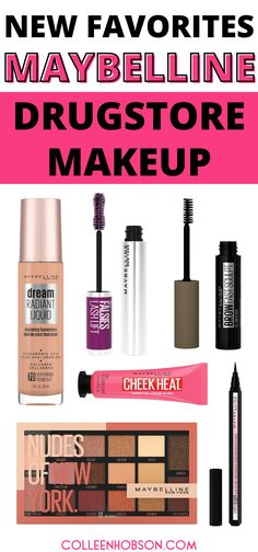 All new Spring 2020 Maybelline makeup products and how you can use them to create a natural elegant makeup look. #maybelline #drugstore #makeup #tutorial