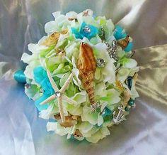 Bouquet da sposa tema mare.Bouquet da sposa di cristinacrystal