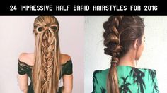 Half braid hairstyles are becoming popular everyday, and women are loving it. It looks great and you can also carry them in both fancy and informal ways.