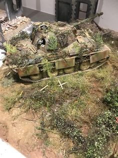I can't tell if it's a model or if it's real. Battle Of Normandy, D Day Normandy, Wargaming Table, Model Tree, Model Tanks, Military Modelling, Army Vehicles, Ww2 Tanks, Military Diorama