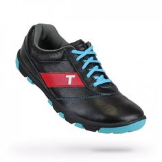 Mens Proto Black/Electric Blue Golf Shoes by True Linkwear.  Buy it @ ReadyGolf.com