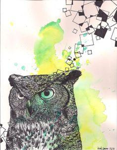 'Grey Horned Owl' by Nicole Janzen