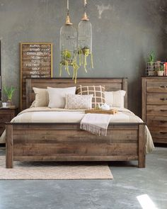 Most Beautiful Rustic Bedroom Design Ideas. You couldn't decide which one to choose between rustic bedroom designs? Are you looking for a stylish rustic bedroom design. We have put together the best rustic bedroom designs for you. Find your dream bedroom. Farmhouse Bedroom Set, Farmhouse Master Bedroom, Farmhouse Design, Farmhouse Style, Rustic Bedroom Sets, Queen Bedroom Sets, Farmhouse Ideas, Farmhouse Decor, Beds Master Bedroom