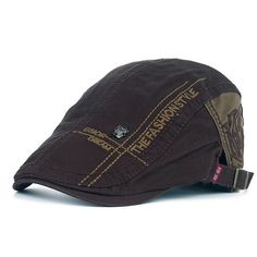 Mens Beret embroidered hat