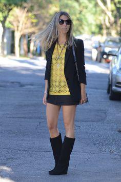 Meu Look: Amarelo & Preto Renda Meu Look ByNV Amarelo  glam4you