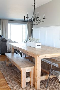 Learn how to make a farmhouse table. This is a great DIY table that you can build that you can use to gather your family and friends at.