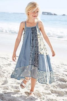 Buy Denim Patch Maxi Dress (3-16yrs) online today at Next: United States of America